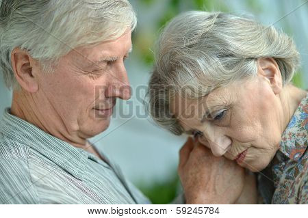 Portrait of an elder couple