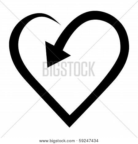 Arrow In Heart Shape