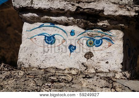Eyes of the Buddha in Nepal