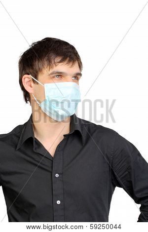 Man In Flu Mask
