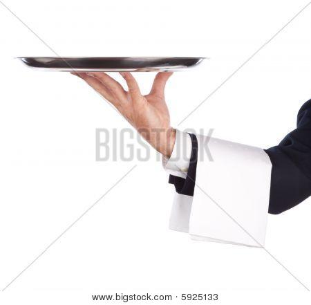 Kellner mit tray