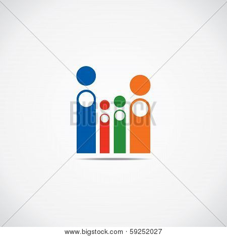 creative family icon vector