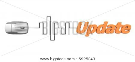 Orange Word Update With Grey Mouse - Digital Cable
