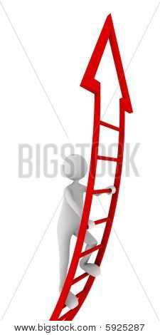 Red ladder of success