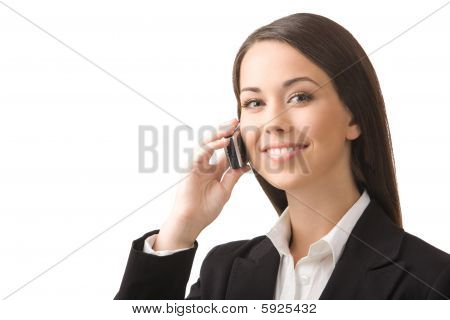 Businesswoman With A Phone.