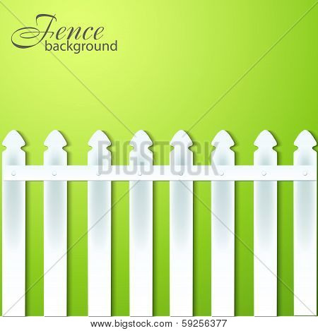 Background With Fence