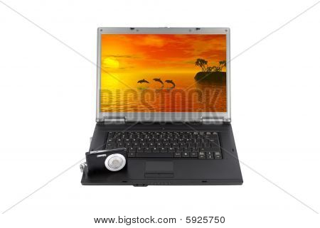 Laptop With Photo Camera