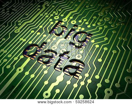 Data concept: Big Data on circuit board background