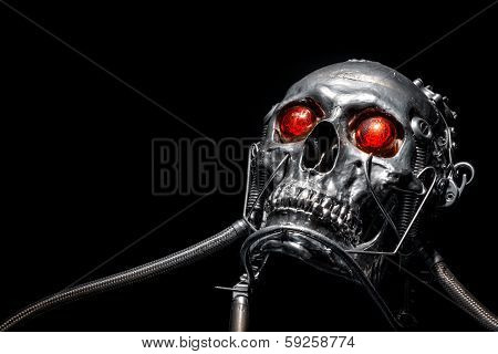Skull of a human size robot