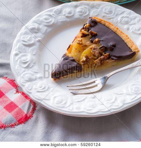 Pears Chocolate Tart