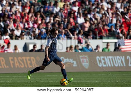 CARSON, CA. - FEB 01: USA M Mix Diskerud #8 in action during the U.S. mens national team soccer friendly against Korea Republic on Feb 1st 2014 at the StubHub Center in Carson, Ca.