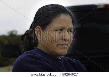 Navajo Woman Close Up