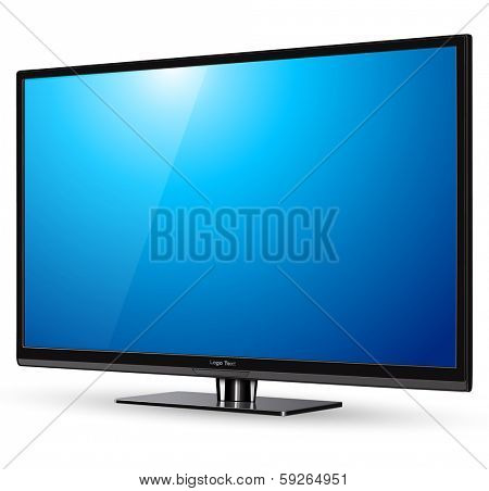TV, modern flat screen lcd, led, vector illustration.
