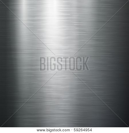 Vector polished metal, steel texture.