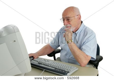 Senior Researching Online