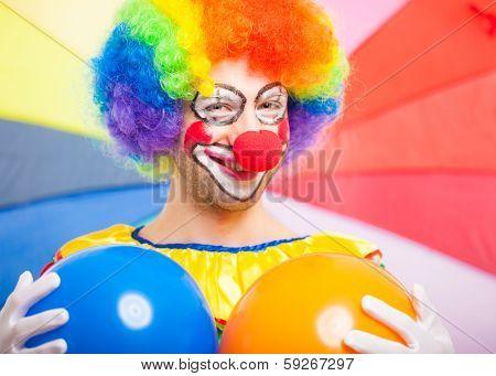 Portrait of a funny clown