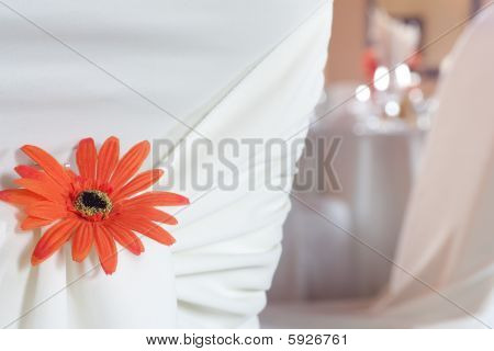 Closeup Of Seat Back Covering For A Wedding