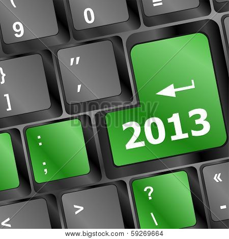 2013 Key On Keyboard. New Year