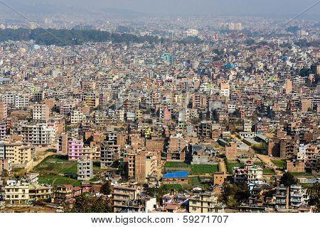 Kathmandu view from Swayambhunath, Nepal
