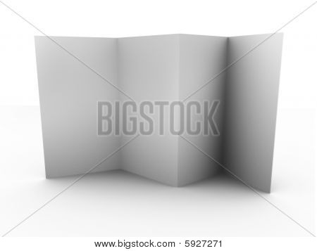 Empty folded leaflet