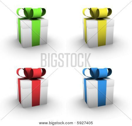 Four Small Gift Boxes