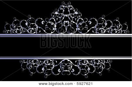 Silver decorative banner