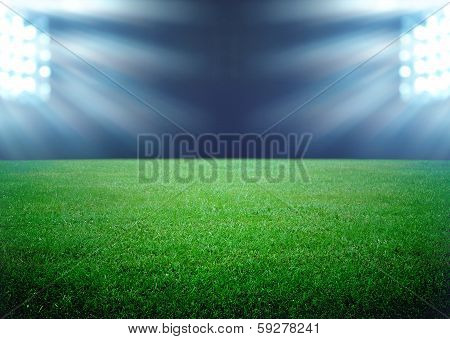 Soccer Field And The Bright Lights