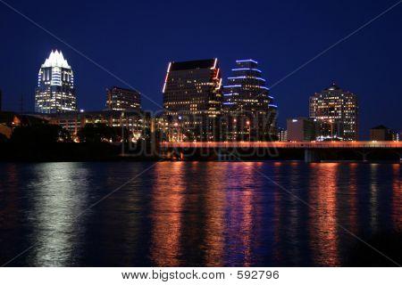 Innenstadt Austin (Texas), in der Nacht