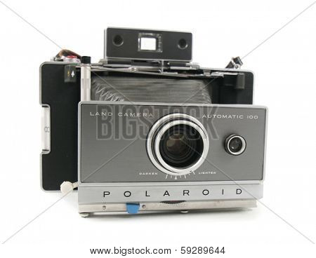 BOISE, ID - JANUARY 31, 2014: The instant photo Polaroid Land Camera