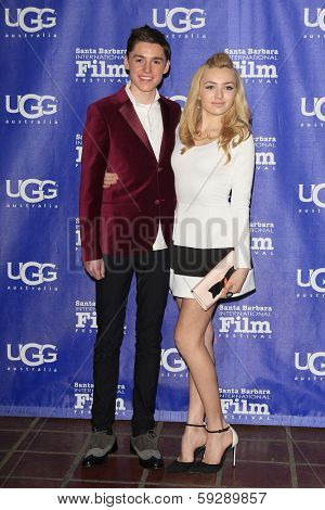 SANTA BARBARA - FEB 1: Spencer List, Peyton List at the Outstanding Performer Of The Year Award at the 29th Santa Barbara International Film Festival on February 1, 2014 in Santa Barbara, CA