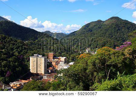 Panoramic View Of Petrópolis, Brazil