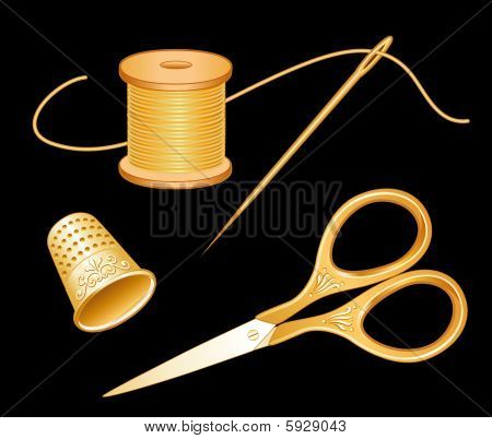 Gold Scissors Set