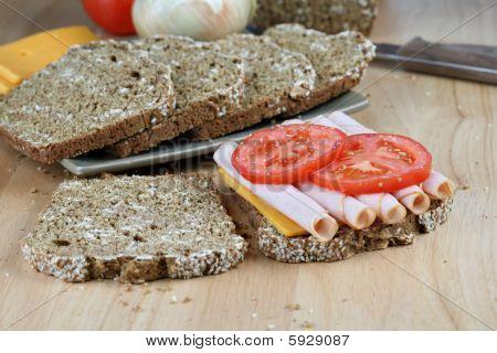 Turkey Sandwich And Ingredients