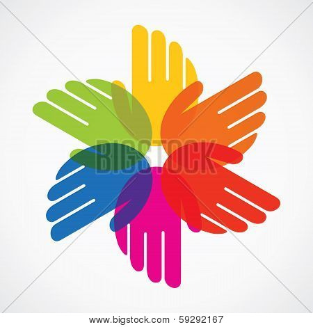 colorful hand make flower