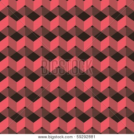 abstract pink square pattern background vector