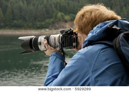 photographer at work