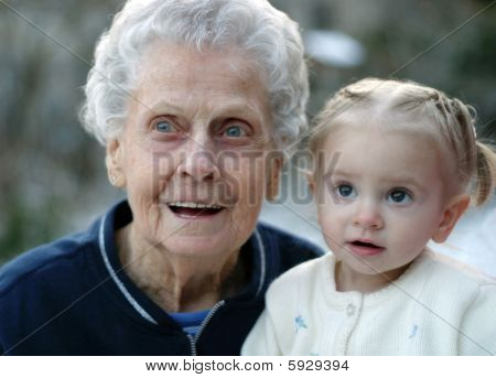 Wide Eyed With Great Great Grandma