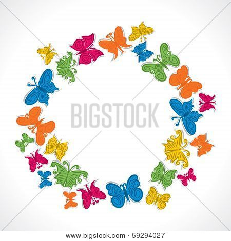 illustration of colorful butterfly background stock vector