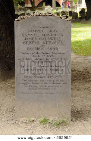 Boston Massacre Tombstone