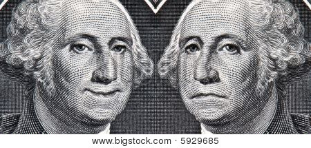 George Washington Dollar Bill Then And Now