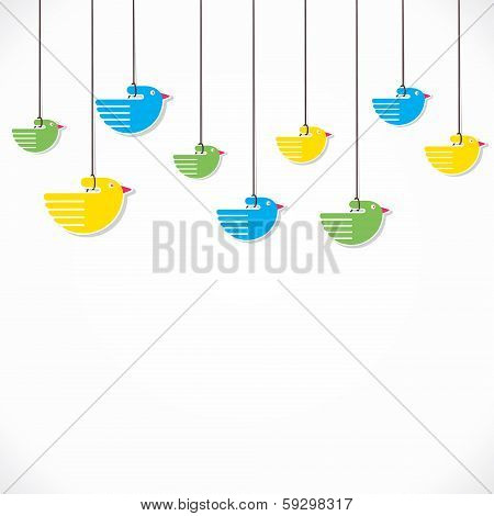 colorful bird background stock