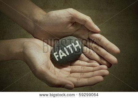Man Holding Stone