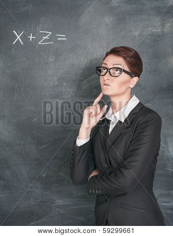 Teacher Solving Equation