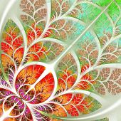 foto of batik  - Multicolor fabulous fractal pattern - JPG