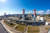 stock photo of smog  - thermal power plant - JPG