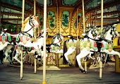 picture of carnival ride  - Carousel - JPG