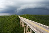 Tall Bridge In A Stormy Weather poster