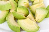 stock photo of avow  - Fresh avacado close up on white background - JPG