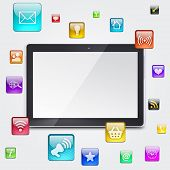 Tablet PC and application icons
