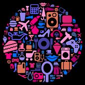 pic of console-mirror  - pictograms of electronics - JPG
